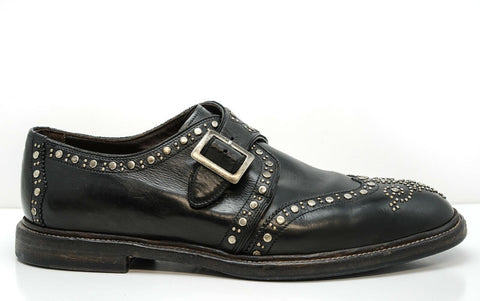 Dolce & Gabbana Men's Black Stud Shoes CA10114