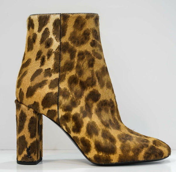 Saint Laurent Leopard Pony Ankle Boot 492980