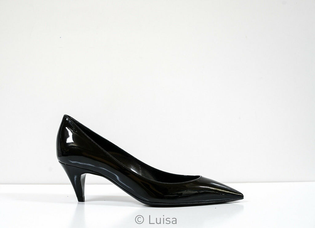 Saint Laurent Suede Black Charlotte 55 Pumps 586545