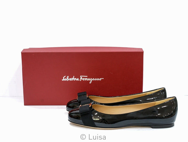 Salvatore Ferragamo Women's Black Patent Leather VARINA 1CM