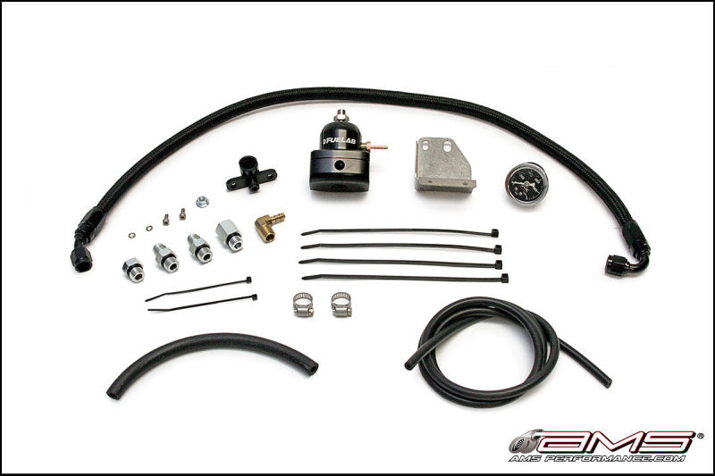 AMS Performance 08-15 Mitsubishi EVO X Fuel Pressure Regulator Kit - Black