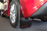 Rally Armor 2014+ Mazda3/Mazdaspeed3 UR Black Mud Flap w/ Red Logo