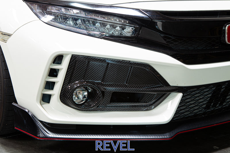 Revel GT Dry Carbon Fog Light Covers for 2017+ Honda Civic Type R