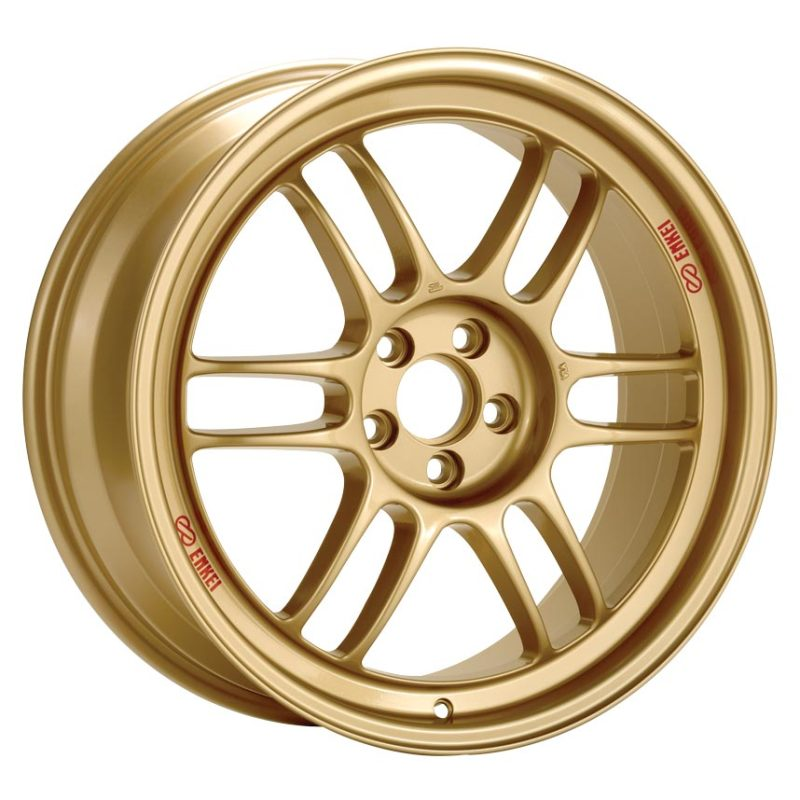 Enkei RPF1 17x9 5x100 45mm Offset Gold Wheel