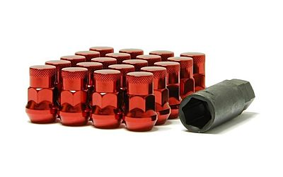 Wheel Mate Muteki SR35 Close End Lug Nuts w/ Lock Set - Red 12x1.25 35mm