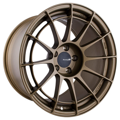 Enkei NT03RR 18x10.5 5x114.3 15mm Offset 75mm Bore Titanium Gold Wheel