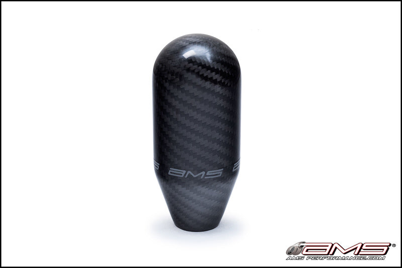 AMS Performance 01-07 Mitsubishi EVO VII/VIII/IX/X 5 Speed Carbon Fiber Shift Knob w/Logo