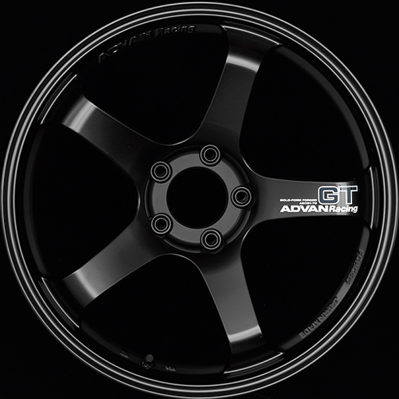 Advan GT 19x10.5 +15mm 5-114.3 Racing Semi Gloss Black Wheel