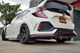 Rally Armor 17+ Honda Civic Type R White Mud Flap w/ Black Logo