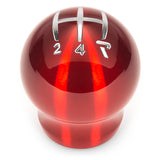 Raceseng Contour Shift Knob (Gate 4 Engraving) M12x1.25mm Adapter - Red Translucent