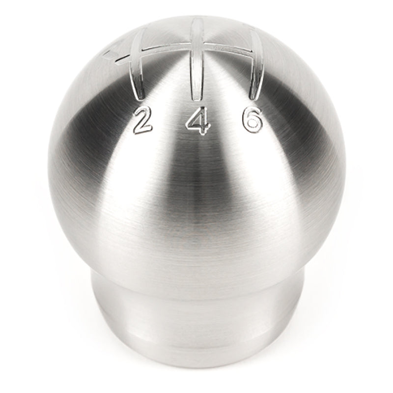 Raceseng Contour Shift Knob (Gate 1 Engraving) M12x1.25mm Adapter - Brushed