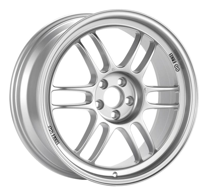 Enkei RPF1 17x8 5x100 45mm Offset 73mm Bore Silver Wheel 02-10 WRX & 04 STI