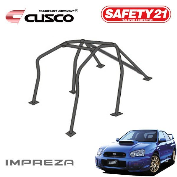 Cusco Safety 21 Around Dash 7-Point Roll Cage for 2 Passengers - Subaru WRX & STi 02-07