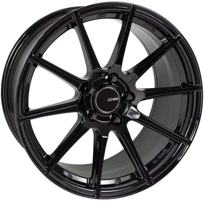 Enkei TS10 17x8 5x100 45mm Offset 72.6mm Bore Black Wheel