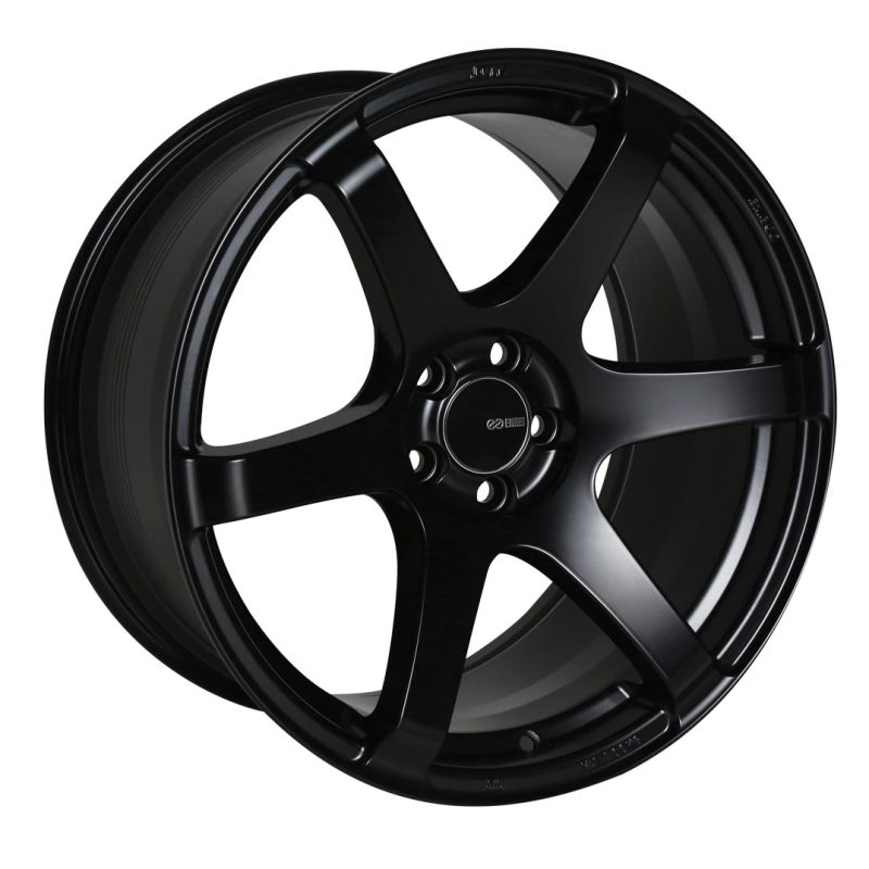 Enkei T6S 17x9 45mm Offset 5x100 Bolt Pattern 72.6 Bore Matte Black Wheel