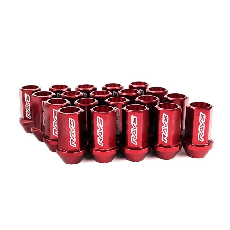 Rays Dura Nut L42 Red Lug Nuts & Locks | M12X1.25