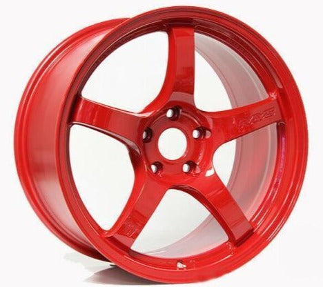 Gram Lights 57CR 18X9.5 +38 5x100 in Milano Red