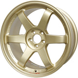 "Volk Racing TE37SL 18x10"" +40 5x120 Wheel in Gold"