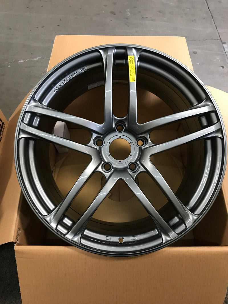 Yokohama AVS Model T5 19x9.5 +45 5x120 Wheel in Dark Silver Metallic