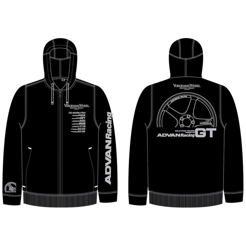 Advan Racing Black Zip-Up Hoodie |