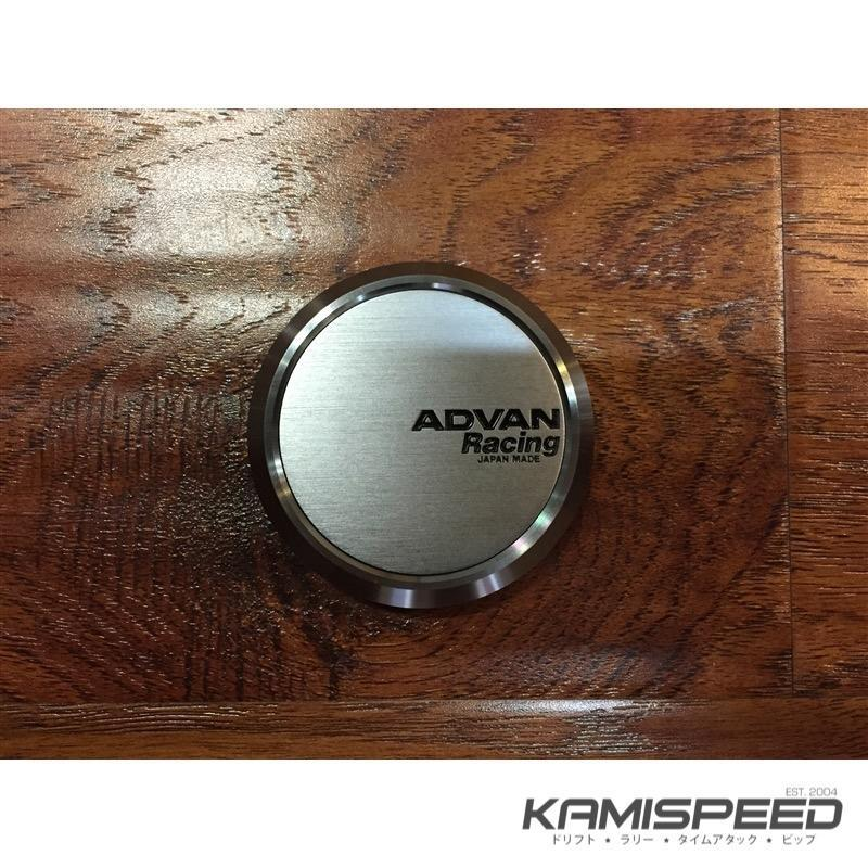 Advan Racing Center Cap - 63 Flat Hyper Black |