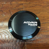 Advan Racing Center Cap - 73 Full Flat Black |
