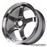 Advan Racing GT 18x8.5 +45 5x100 | Machine Racing Metal Black (13+ FR-S, BRZ, and 86)
