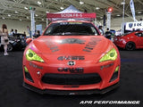 APR Performance Carbon Fiber Front Wind Splitter With Rods - Scion FR-S 2012+ |
