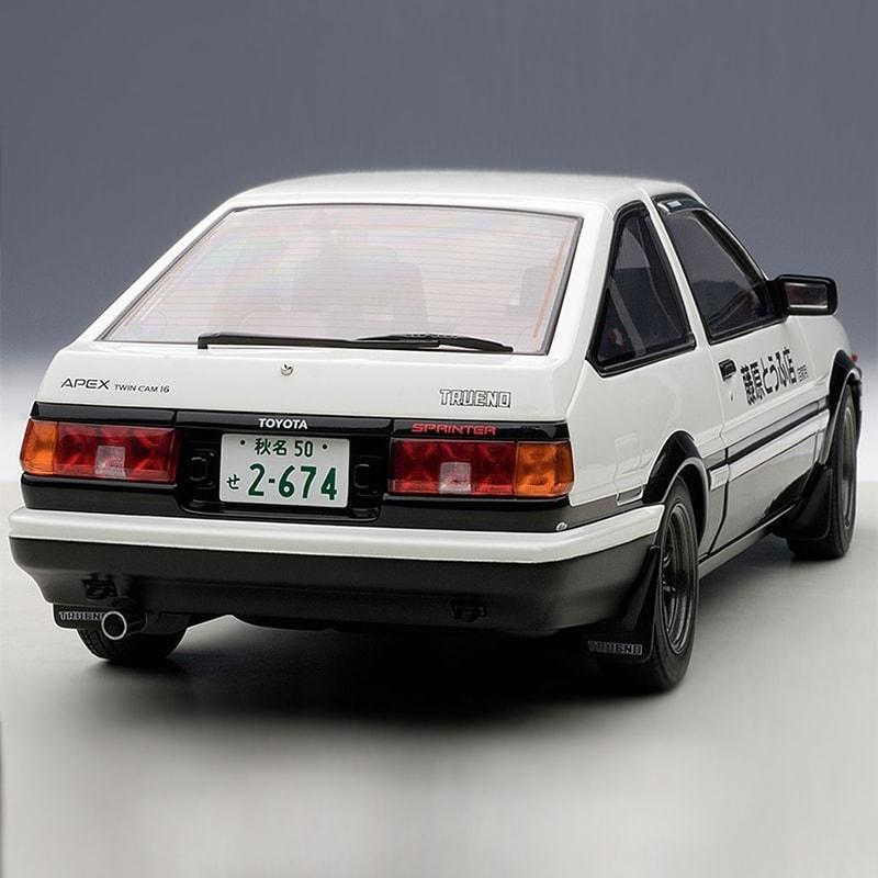 AUTOart 1:18 Die Cast Model of the Initial D Toyota Sprinter Trueno AE86