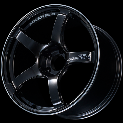 Advan Racing TC-4 18x9.5 +35 5-114.3 | Racing Black Gunmetallic and Ring Wheel (15+ WRX STI)