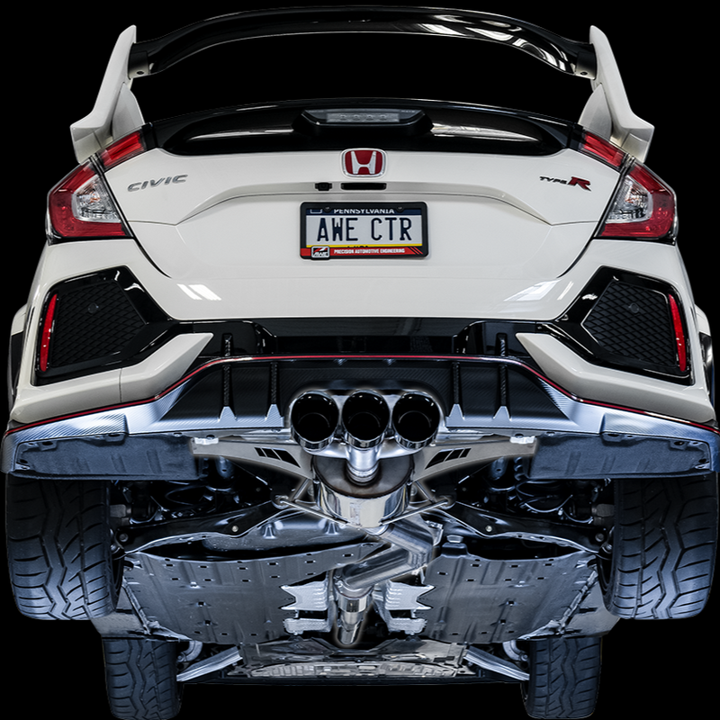 AWE Touring Edition Exhaust Kit for FK8 Honda Civic Type R (catback + front pipe)