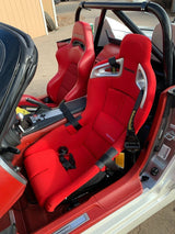 Bride A.i.R. Bucket Seat - FRP Shell / Red Fabric