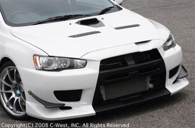 C-West Front Bumper PFRP Evolution 10 CZ4A