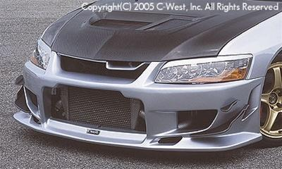 C-West Front Bumper PFRP Evolution 8/9 CT9A