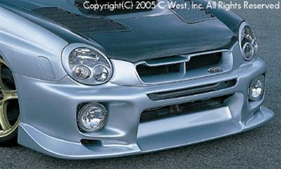 C-West Front Bumper With Fog Screw Holes (Zenki) PFRP WRX GDA 02-03