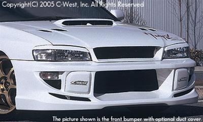 C-West Front Bumper Without Fog Screw Holes (2.5RS) PFRP 98+ Impreza GC8