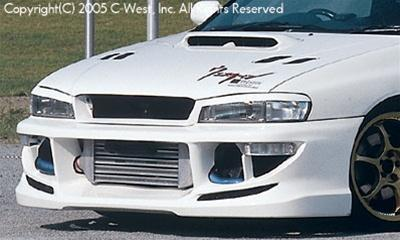 C-West Front Bumper Without Fog Screw Holes PFRP 1.8L & 2.2L Impreza GC8