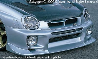 C-West Front Bumper Without Fog Screw Holes (Zenki) PFRP WRX GDA 02-03