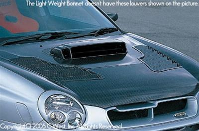 C-West Light Weight Bonnet Without Louver (Zenki) PCC WRX GDA 02-03