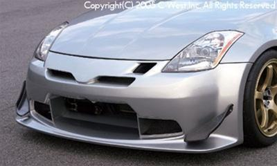 C-West N1 Front Bumper With Frp Front Air Intake PFRP Z33 350Z