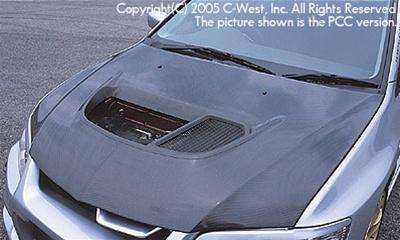 C-West Super Aero Bonnet With Louver FRP Evolution 8/9 CT9A