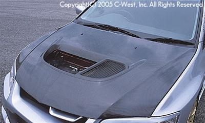 C-West Super Aero Bonnet With Louver PCC Evolution 8/9 CT9A