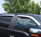 AVS 10-18 Toyota 4Runner Ventvisor Outside Mount Front & Rear Window Deflectors 4pc - Chrome