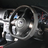 DAMD D-Shape Carbon Steering Wheel (Black Stitching) - 08-14 Impreza WRX / STI, 08-09 Legacy / Outback, and 09-13 Forester