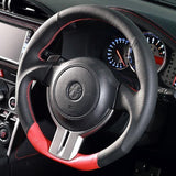DAMD SS358-Z D-Shape Steering Wheel Red Formula - Subaru BRZ & Scion FR-S