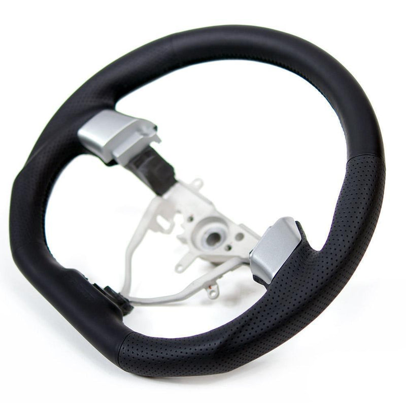 DAMD D-Shaped Black Stitch Steering Wheel - Older Generation Subaru