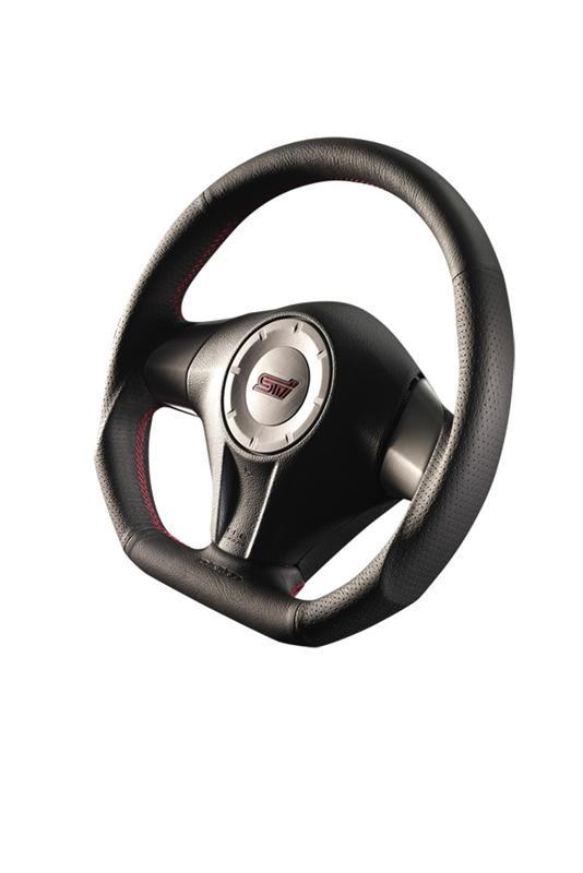 DAMD D-Shaped Red Stitch Steering Wheel - Older Generation Subaru