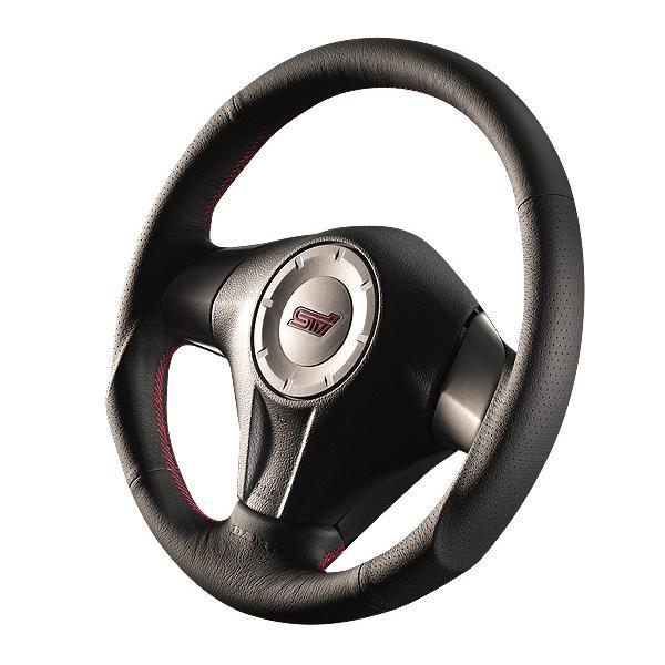 DAMD O-Shaped Red Stitch Steering Wheel - Subaru WRX STI Legacy Forester