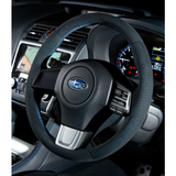 DAMD Suede Blue-Stitch O-Shape Steering Wheel for Subaru 2015 WRX & STi