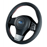 DAMD Suede Red-Stitch O-Shape Steering Wheel for Subaru 2015 WRX & STi